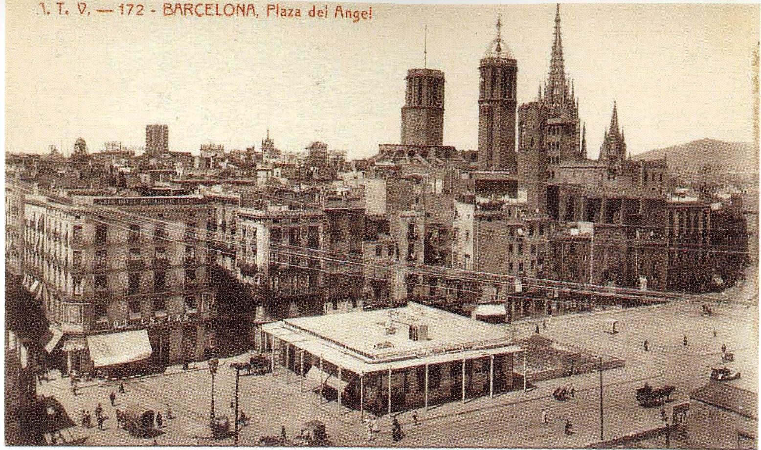 Plaça de l'Àngel y el milagro