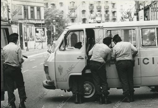 Plaça Catalunya con Ramblas